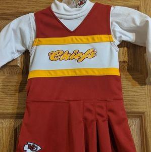 Kansas City Chiefs toddler Cheerleader outfit